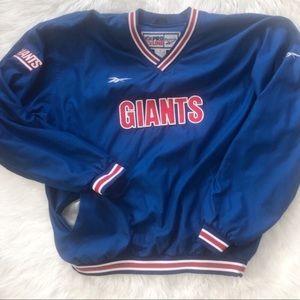 VTG Reebok Proline NY Giants Pullover  L